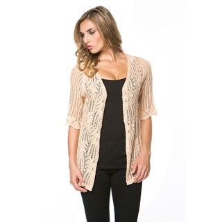 High Secret Women's Crochet Open Front Cardigan
