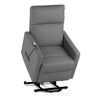 ProLounger Tuff Stuff Taupe Synthetic Leather Power Lift Chair Wall Hugger Recliner