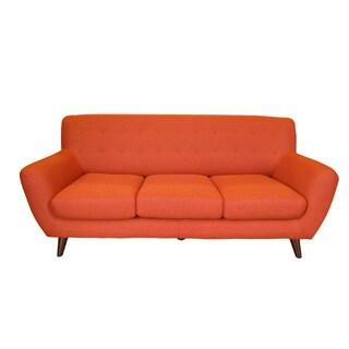 Porter Edie Pumpkin Orange Modern Sofa