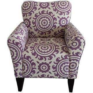 Adeco Printed Fabric Armchair