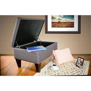 MJL Furniture Brooklyn Upholstered Square Legged Storage Ottoman
