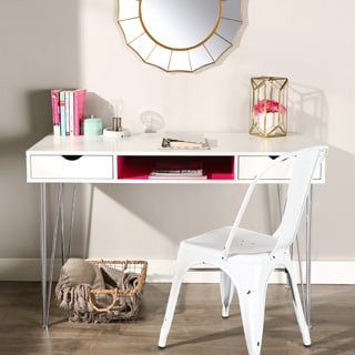 48-inch Color Accent Desk - Hot Pink