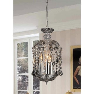 Karla 3-light Clear Glass 11-inch Crystal Chandelier