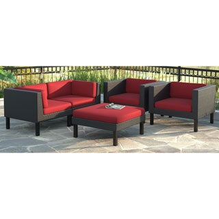 CorLiving Oakland 5pc Sofa and Chair Patio Set