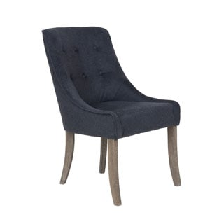 Crafted Home's Juliette Black Upholstered Chair
