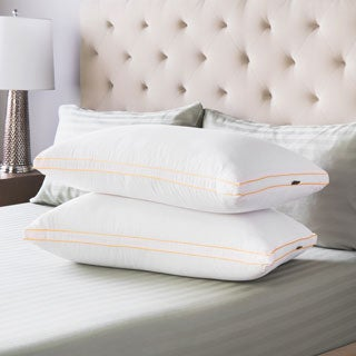 Swiss Lux Gusseted Medium Density Bed Pillows (Set of 2)