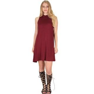 Sleeveless Rayon and Spandex Shift Dress