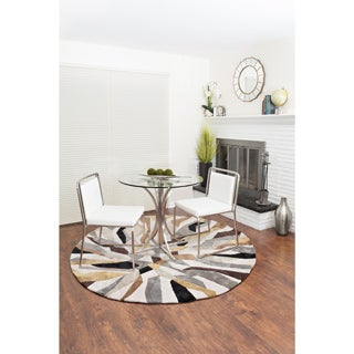 Pair of Cascade Contemporary Stainless Steel Dining Chairs by LumiSource