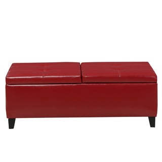Christopher Knight Home Alfred Faux Leather Medium Storage Ottoman Bench