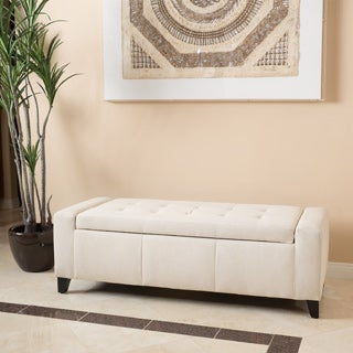 Christopher Knight Home Guernsey Fabric Storage Ottoman Bench