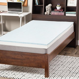 Select Luxury Dorm 3-inch Gel Memory Foam Reversible Mattress Topper