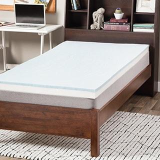 Select Luxury Dorm 3-inch Gel Memory Foam Reversible Mattress Topper