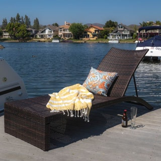 Christopher Knight Home Turin Outdoor Adjustable Wicker Chaise Lounge