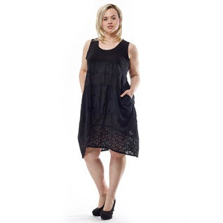 La Cera Women's Plus Size Sleeveless Dress