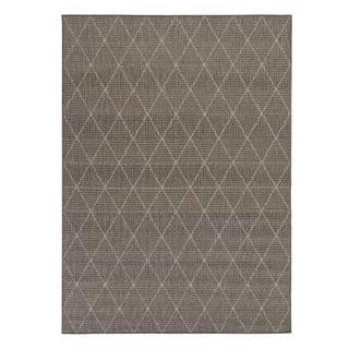 Berrnour Home Summer Collection Trellis Design Jute Backing Indoor/Outdoor Runner Rug (2'7 x 7'0)
