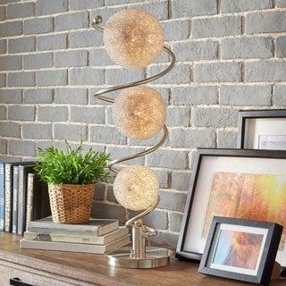 Russo Elliptical Nickel Base Finish Table Lamp