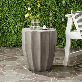 Safavieh Jaslyn Concrete Accent Table (Dark Grey)