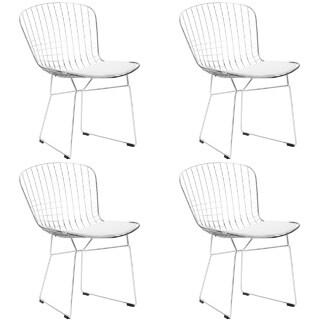 Edgemod Morph EM-108-BLK-X4 Chrome Wire Dining Side Chair (Set of 4)