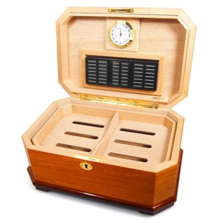 Cuban Crafters Olmo Cubano Cigar Humidor for 30 Cigars