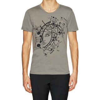 Versace Collection Men's Half Medusa Grey T-shirt