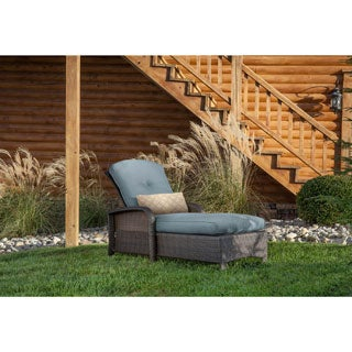 Hanover Outdoor Strathmere Chaise Lounge Chair in Ocean Blue
