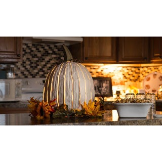 Desert Steel Metal Pumpkin Luminary