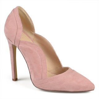 Journee Collection Women's 'Adley' Faux Suede Scalloped Pumps