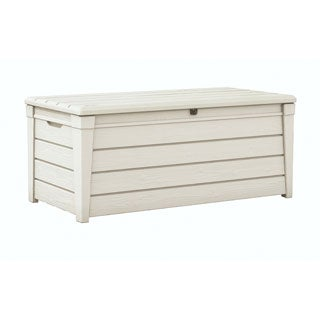 Keter Brightwood 120-gallon White Plastic Deck Storage Box