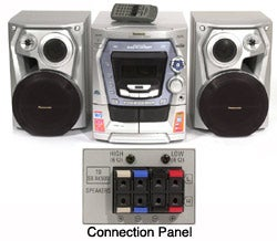 Panasonic  SC-AK500 5-Disc CD  Mini System (Refurbished)