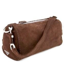 prada wallet in chain - Prada Brown Suede Handbag - 404279 - Overstock.com Shopping - Big ...