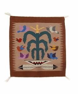 Handmade Tree Of Life Navajo Rug Native American