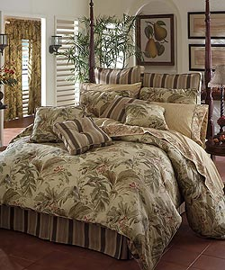 Island Breeze Luxury Bedding Ensemble w 215tc Sheet Set- CK