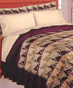 Whimsical Wineberry Luxury Comforter Set