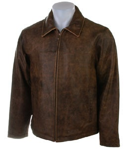 James Dean Men's Brown Distressed Leather Jacket