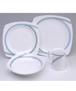 studio nova ringside blue 16 pc dinnerware set 417179 overstock