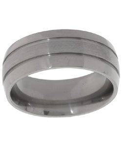 Men&#39;s Titanium Corrosion-Resistant Polished Band (8 mm)