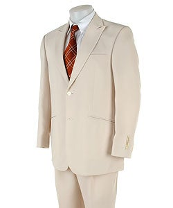 Cubavera Men's Off-white 2-button Peak Lapel Suit