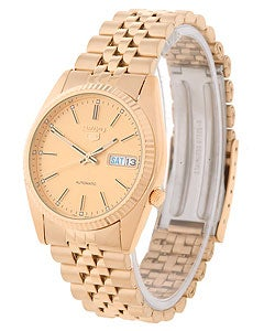 Seiko Men's Rolex-style Automatic Goldtone Gold Dial Watch