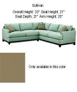 Sullivan moss green sectional sofa 80000464 overstock for Moss green sectional sofa