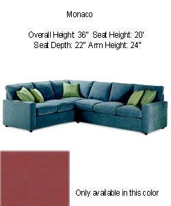 Monaco Plum Sectional Sofa 80000503 Overstock Com