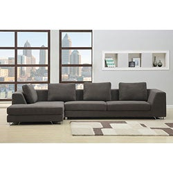 Rochester Charcoal Sectional Sofa | Overstock.com Shopping - Big