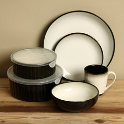 Sango Nova Black 20-piece Dinnerware Set