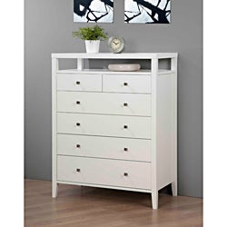 Aristo White Gloss 6-drawer Chest