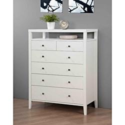 Aristo White Gloss 6-drawer Chest