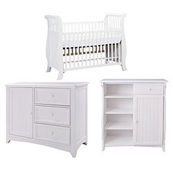 Bassett Baby Cottage White 3-piece Nursery Set