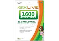 Xbox 360 - Live 1600 Points Card