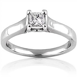 14k Gold 1/3ct TDW Princess Diamond Solitaire Ring (H-I, SI1-SI2)