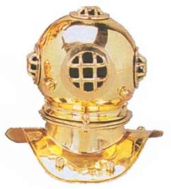 US Navy Mark V 8-inch Brass Diving Helmet Replica