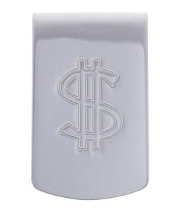 Sterling Essentials Sterling Silver Dollar Sign Money Clip