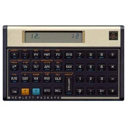 Hewlett-Packard 12C Financial Calculator
